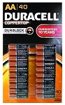 Duracell Alkaline Batteries 40 Pack (1500AA/40)