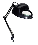 2x Illuminated Table Magnifier Lamp with Clamp (SE MC327B)