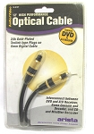 12 Foot Optical Cable  with 24K TOS Link Plugs