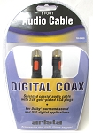6 FT Audio Cable 24 pk Plated RCA/RCA