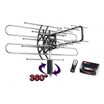 HD/UHF/VHF Outdoor - TV Remote Controlled Rotatable Antenna HD870