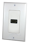SINGLE HDMI WALL PLATE (58-7750)