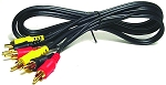 6FT COMPOSITE CABLE 1 VIDEO 2 AUDIO (SDC-1)