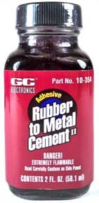 GC Electronics Rubber To Metal Cement 2 fl oz