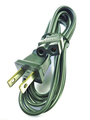 "AC Power Cord ""D"" Style With Flat Edge"