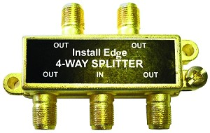 4 WAY SPLITTER 45-900MHZ (CP-444)
