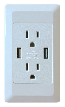 Dual Wall Outlet with 2 USB Ports