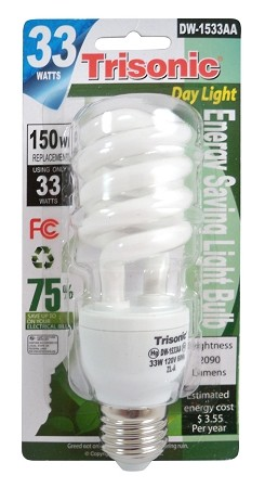 33 WATT BULB REPLACES 150 WATT BULB (DW-1533AA)