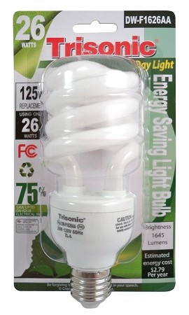 26 WATT BULB REPLACES 125 WATT BULB (DW-F1626AA)