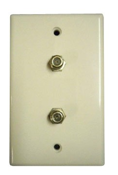 MA-1040 Dual Cable Outlet 75 Ohm Wall Plate White (MA-1040)