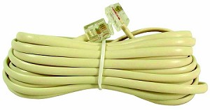 15 FT MODULAR PLUG TO MODULAR PLUG TELEPHONE 4 CONDUCTOR RJ11 ENDS (TA-1310)
