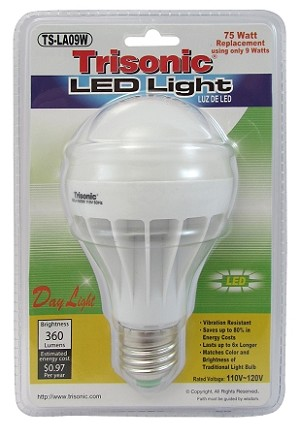 9 WATT BULB REPLACES 75 WATT BULB (TS-LA09W)
